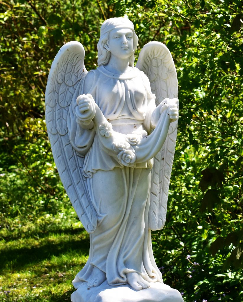 Angel statues garden and outdoor
