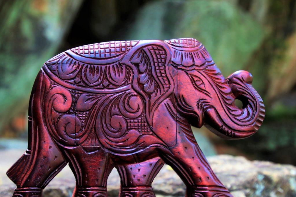 elephant statue wood